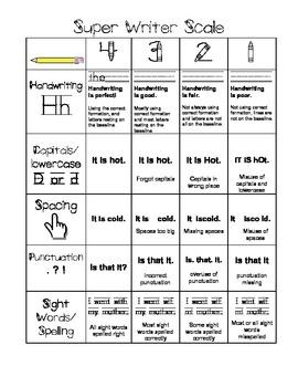 Super Writing Scale