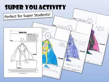 Super You Activity - Super Hero Template