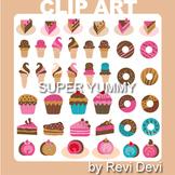 Dessert clip art - Ice cream, cakes, donuts