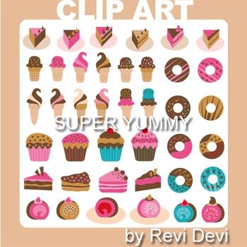 Super Yummy clip art 07014 (teacher resource) ice cream, c
