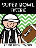 Super bowl Freebie