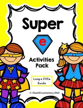 """Super """"e"""" Activity Pack  {CVCe; Long a: a_e}"""