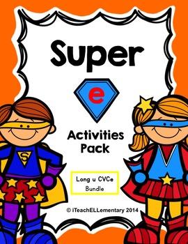 """Super """"e"""" Activity Pack {CVCe; Long u: u_e}"""