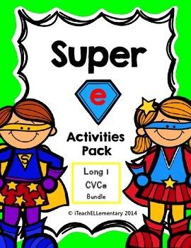 "Super ""e"" Activity Pack {CVCe; Long i: i_e}"