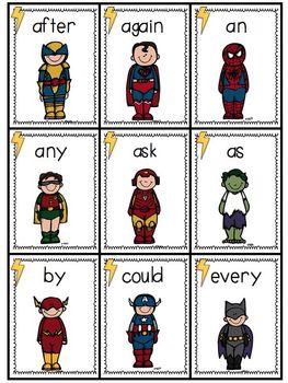 Super engaging, Superhero sight word activities