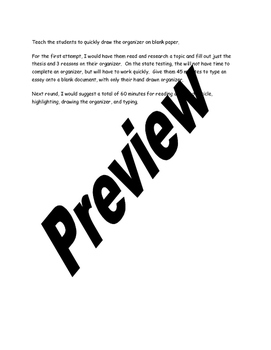 Super fast test prep five paragraph essay for AIR, PARCC