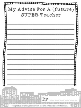 Super [future] Teacher Advice Book