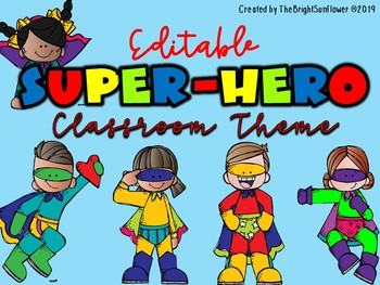 Super Hero Classroom Theme
