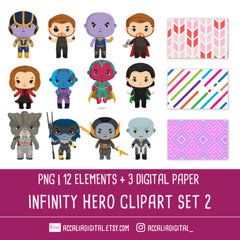 Super hero Infinity Clip art set 2