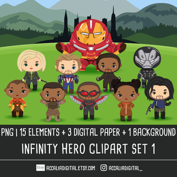 Super hero Infinity Clip art set 3