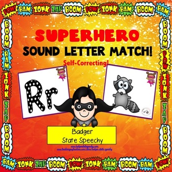 Super hero Letter Sound Match