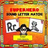Beginning Sound and Letter Match Cards Superhero