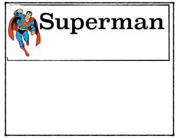 Super hero Name Letter Mats