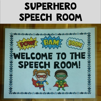 Super hero Speech Ladder and EDITABLE Classroom Decor