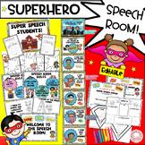 Super hero Speech Ladder and EDITABLE Classroom Decor