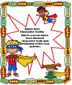Super-hero Writing Packet