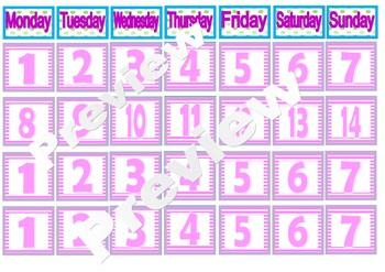 Super hero girly theme calendar and months back to school decor