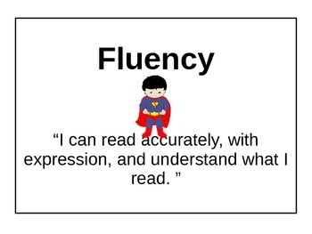 Super hero reading strategy headers