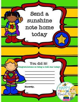 Super hero sunshine notes