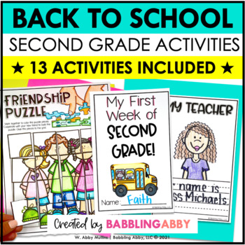 First Day of School & Back to School Activities (Second Grade) | Jitter Juice
