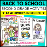 First Day of School & Back to School Activities (Second Gr