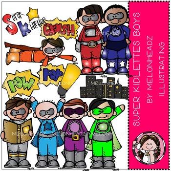 Super kidlette boys clip art - Superheroes - by Melonheadz