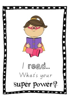 Super power reading sign display GIRL