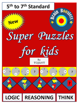 Super puzzles for Kids from Brain Booster Series(5th to 7th Standard students)
