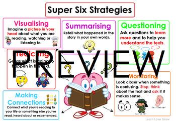 Super-six Reading Comprehension Strategies #ausbts18