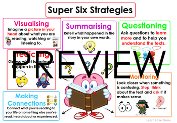 Super-six Reading Comprehension Strategies