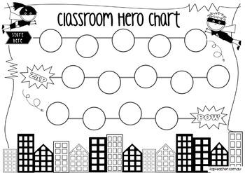Super student superhero behaviour management