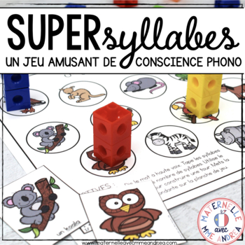 Super syllabes! (FRENCH Syllable counting practice game)