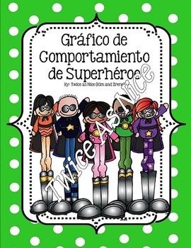 Superhero Behavior Clip Chart- English and Spanish