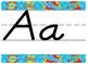 SuperHero Themed Print alphabet strip