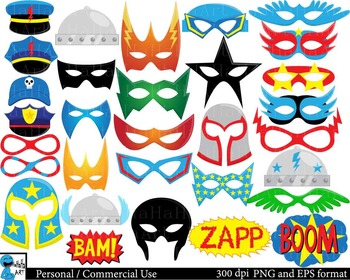 SuperHeros Props - Digital ClipArt Personal Commercial Use 129 images cod185