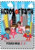 SuperHeros of Faith Bible Reading Calendar - February 2021