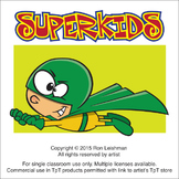 SuperKids Cartoon Clipart
