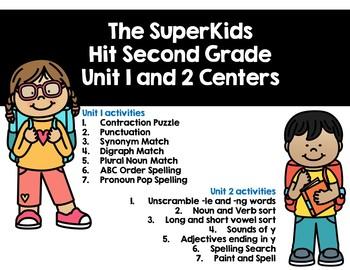 SuperKids Centers Unit 1-2 Bundle
