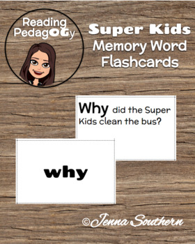 SuperKids Memory Word Flashcards