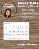 SuperKids Memory Word Reading and Spelling Assessment Tool