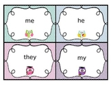 SuperKids Unit 1 Pattern/Memory Words