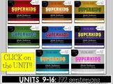 Writing Sentences & Spelling: SuperKids UNITS 9-16 Second Grade