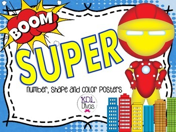 Super...Number, Shape and Color Posters