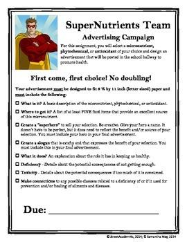 SuperNutrient Advertisement (+ Rubric)