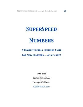 SuperSpeed Numbers