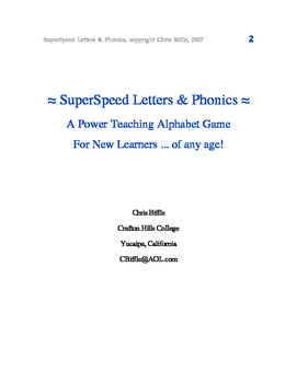 SuperSpeed Phonics
