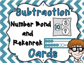Superb Subtraction Number Bond and Rekenrek Cards