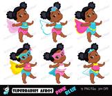 Superbabies clipart ,SuperBaby African american,Multicultu