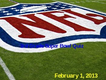 Superbowl 2013 Quiz Game **Editable**