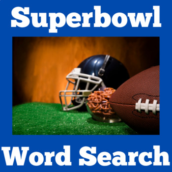 Superbowl Activity | Superbowl Word Search